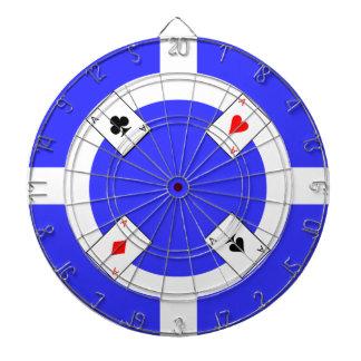 ポーカー用のチップ-青 ダーツボード