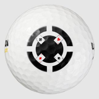 ポーカー用のチップ-黒 ゴルフボール