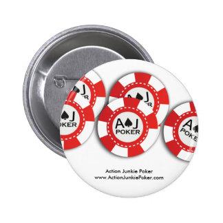 ポーカー用のチップPin 5.7cm 丸型バッジ