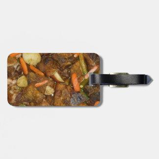 ポークにんじんのポテトのオーブンの焼いたな食糧デザイン ラゲッジタグ