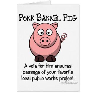 ポークバレル法案の政治出費 カード