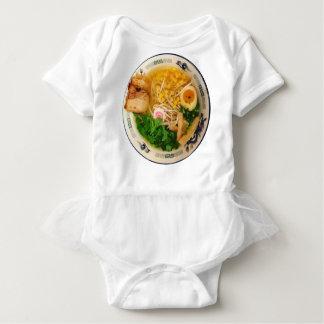 ポークラーメンのヌードル・スープ ベビーボディスーツ