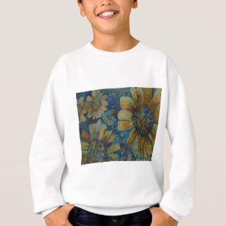 ポーク点が付いている色彩の鮮やかなヒマワリ、 スウェットシャツ