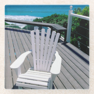 ポーチのAdironakの椅子 ガラスコースター