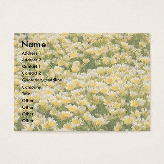 ポーチドエッグの植物の名刺 名刺