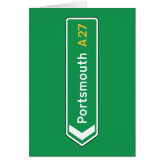ポーツマスのイギリスの交通標識 カード