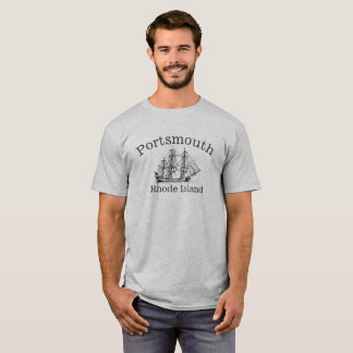 ポーツマスロードアイランドの高い船のワイシャツ Tシャツ