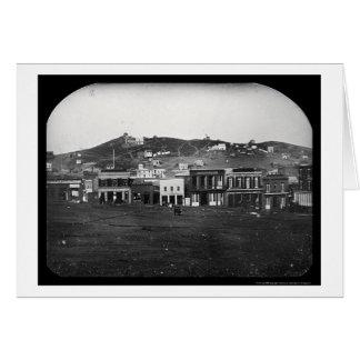 ポーツマス正方形のサンフランシスコの銀板写真1851年 カード