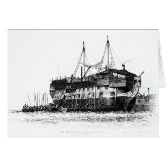 ポーツマス港の刑務所の船 カード