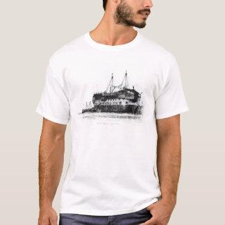 ポーツマス港の刑務所の船 Tシャツ