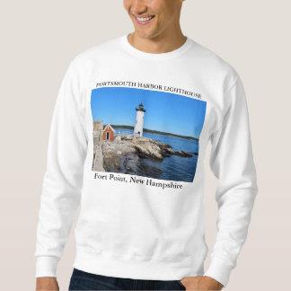 ポーツマス港の灯台、ニューハンプシャー スウェットシャツ