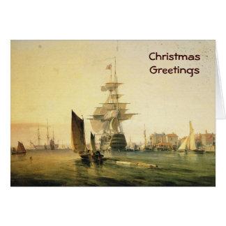 ポーツマス1835年に入るHMS Britannia カード