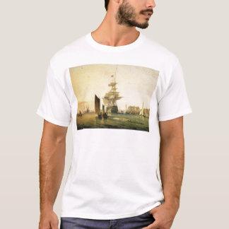 ポーツマス1835年に入るHMS Britannia Tシャツ