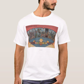 ポーツマス、オハイオ州-大きい手紙場面 Tシャツ