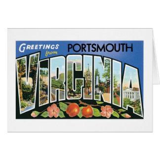 ポーツマス、ヴァージニアからの挨拶 カード