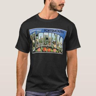 ポーツマス、ヴァージニアからの挨拶! 郵便はがき Tシャツ