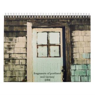 ポートランドの片 カレンダー