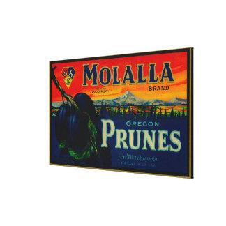 ポートランドのOregonMolallaのプルーンラベル キャンバスプリント