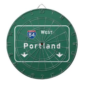 ポートランドオレゴンか州間幹線道路の高速道路: ダーツボード
