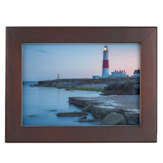ポートランドビル灯台のたそがれ ジュエリーボックス