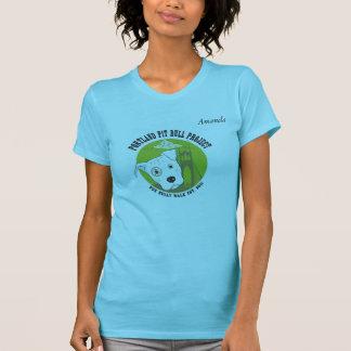 ポートランドピット・ブルの女性のTシャツ Tシャツ