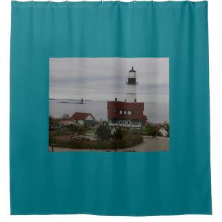 ポートランドヘッドライトの灯台シャワー・カーテン シャワーカーテン