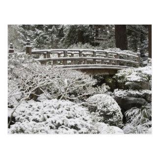 ポートランド日本のな庭の降雪、 ポストカード
