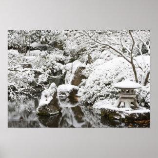 ポートランド日本のな庭の降雪、2 ポスター