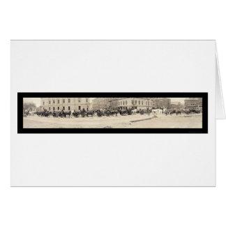 ポートランド私消防署の写真1920年 カード