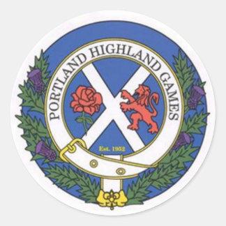 ポートランド高地のゲームの頂上のロゴ項目 ラウンドシール
