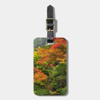 ポートランド、オレゴン2の秋の日本のな庭 ラゲッジタグ