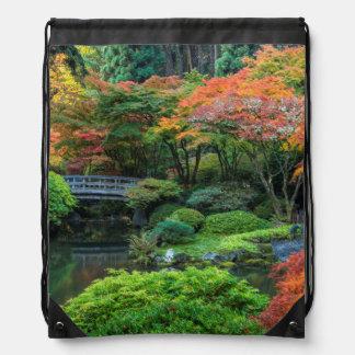 ポートランド、オレゴン3の秋の日本のな庭 ナップサック