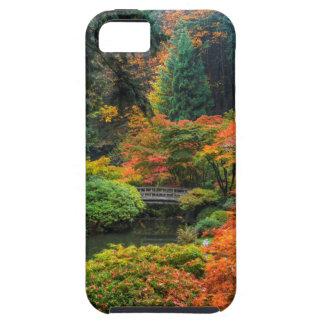 ポートランド、オレゴン5の秋の日本のな庭 iPhone SE/5/5s ケース