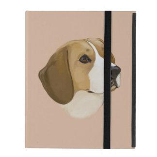 ポートレートのビーグル犬 iPad カバー