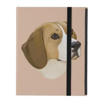 ポートレートのビーグル犬 iPad ケース
