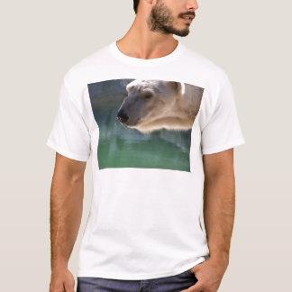 ポートレートの上の白くまの終わり Tシャツ