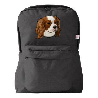 ポートレートの無頓着なチャールズ王スパニエル犬 AMERICAN APPAREL™バックパック