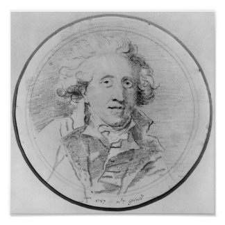 ポートレートはジーンHonore Fragonardであると推定しました ポスター