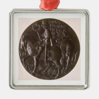 ポートレートメダルは、逆の描写のGianfrancesco行きます メタルオーナメント