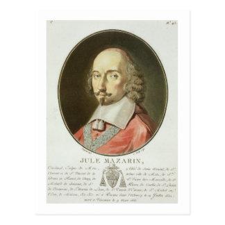 「ポートレートdからの基本的なジュールMazarin (1602-61年) ポストカード