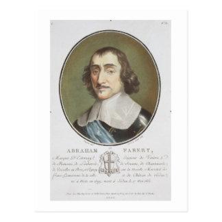 「ポートレートdesからのアブラハムde Fabert (1599-1662年) ポストカード
