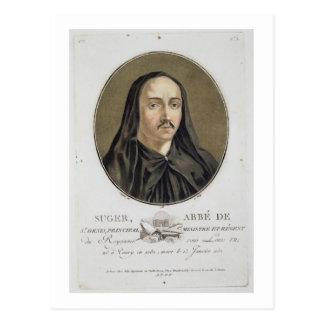 「ポートレートdesのgranからのAbbe de Suger (1082-1151年) ポストカード