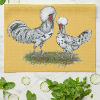 ポーランドのしぶきの鶏 キッチンタオル