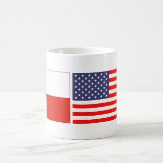 ポーランドのアメリカの国旗のコーヒー・マグ コーヒーマグカップ