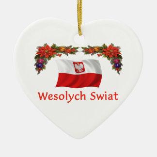 ポーランドのクリスマス セラミックオーナメント