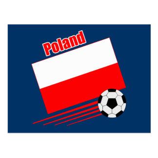 ポーランドのサッカーチーム ポストカード