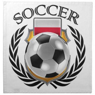 ポーランドのサッカー2016ファンのギア ナプキンクロス