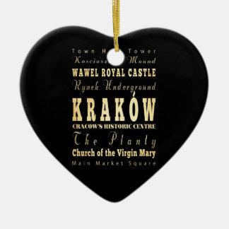 ポーランドのタイポグラフィの芸術のKraków都市 セラミックオーナメント
