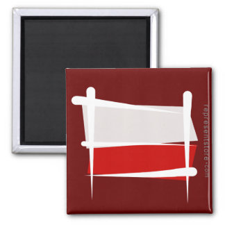 ポーランドのブラシの旗 マグネット