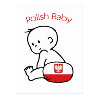 ポーランドのベビー ポストカード